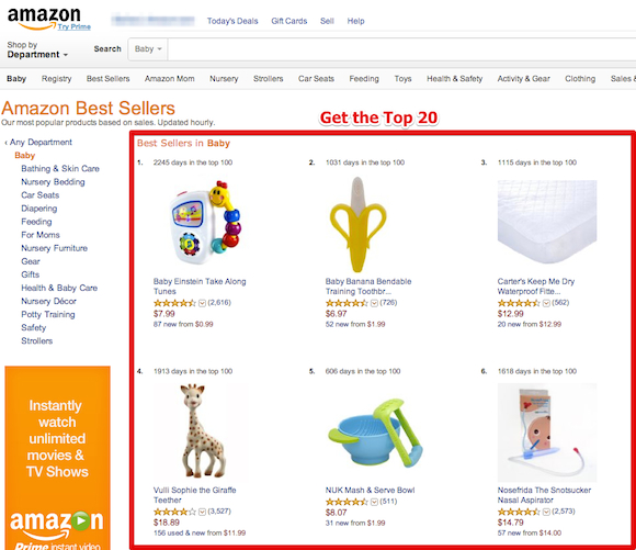 amazon bestseller top 20 department Startup #5: Checkout +1   why you must test your best business idea within a week