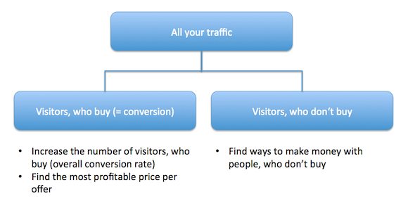 convert your traffic Startup #3: Consulting Cases   founded 2 years ago, now making 1.000 Dollars a month