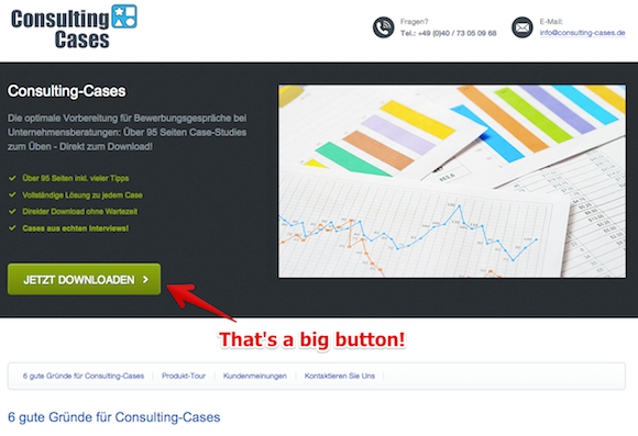 thats a big button Startup #3: Consulting Cases   founded 2 years ago, now making 1.000 Dollars a month